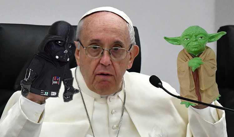 El Papa explica la Biblia con personajes de StarWars para atraer a los jóvenes haynoticia