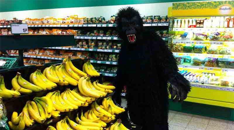 Detenido por intentar robar comida en un Hipercor haciéndose pasar por un gorila