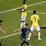 Japón cambió a 3 jugadores en el descanso sin que nadie se diera cuenta frente a Colombia